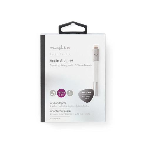 nedis Audio-Adapter / 8-Pins Lightning Male naar 3,5 mm Female / Koptelefoon naar Apple-Apparaat