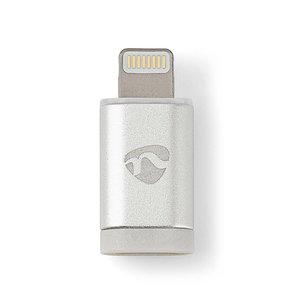 nedis Sync & Charge-Adapter / 8-Pins Lightning Male naar USB 2.0 Micro-B Female