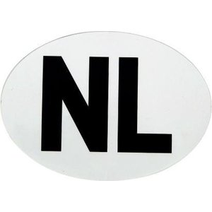 Universeel Stickers NL vinyl wit 20x 112x80mm