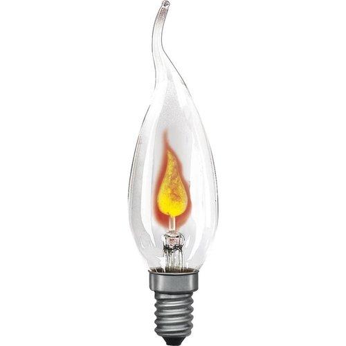 Universeel Flakkerkaarslamp Neon 3W E14 Helder 35X97