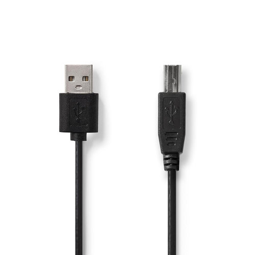nedis Kabel USB 2.0 / A male - USB-B male / 2,0 m / Zwart