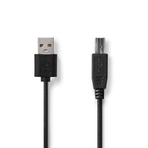 nedis Kabel USB 2.0 / A male - USB-B male / 3,0 m / Zwart