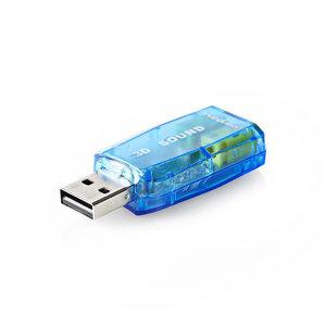 nedis Geluidskaart / 3D-sound 5.1 / USB 2.0 / Dubbele 3,5 mm connector