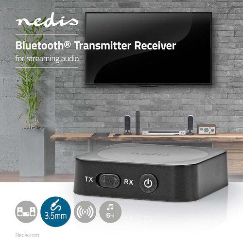nedis Draadloze audio-ontvanger / Bluetooth(Rights reserved) / 3,5 mm uitgang / Zwart