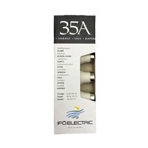 Ifo Electric Zekering Smeltveiligheid Snel 35Amp Zwart Verpakt Per 5St