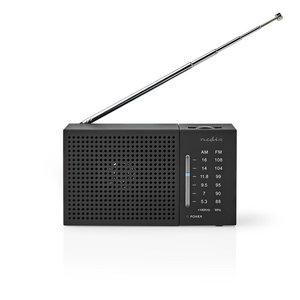 nedis FM / AM Radio | 1.5 W | Zakformaat Zwart