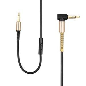 Hoco Hoco Aux Spring Audiokabel met Microfoon (2M)