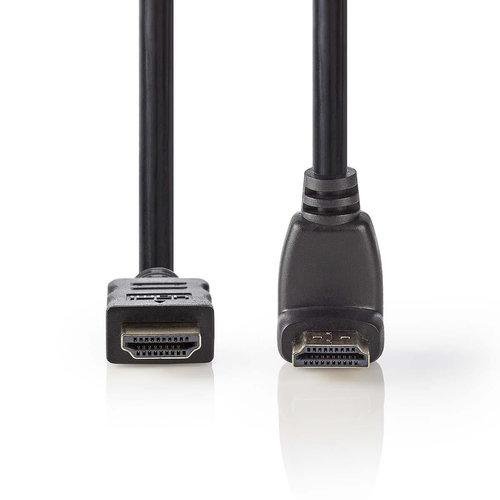 nedis High Speed HDMI -kabel met Ethernet / HDMI -connector - HDMI -connector 90 degree  haaks / 1,5 m / Zwart