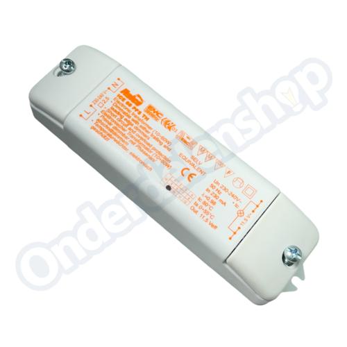 Relco relcohalogeenlamp trafo recht 10-60W RN1602 60PFS aan afsnij 145X39X28M