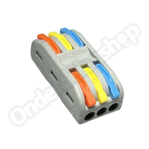 Universeel Draad connector quick  3 polig  32A