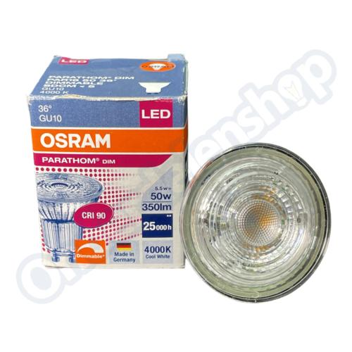 Osram Ledlamp GU10 50W CW Dimbaar 36 graden