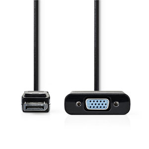 nedis DisplayPort Male | VGA Male | Vernikkeld | Maximale resolutie: 1080p | 0.20 m
