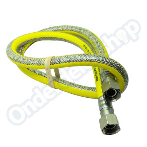 Raminex 150CM Gasslang RVS flexibel voor alle apparaten