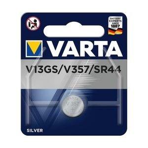 Varta V357 V13GA A76 Lr44 Alkaline 1.55V 125mAh Bls1