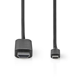 nedis USB-Adapter USB 3.2 Gen 1 | USB Type-C™ Male | HDMI™ | 2m                     CCGP64655BK20