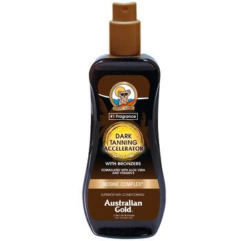 Australian Gold Dark Tanning Accelerator Spray Gel mit Bronzer