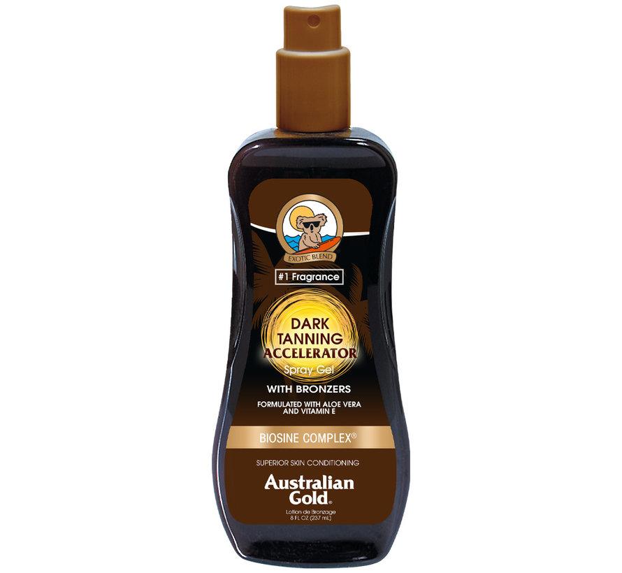 Dark Tanning Accelerator Spray Gel mit Bronzer - Sonnenschutz ohne LSF