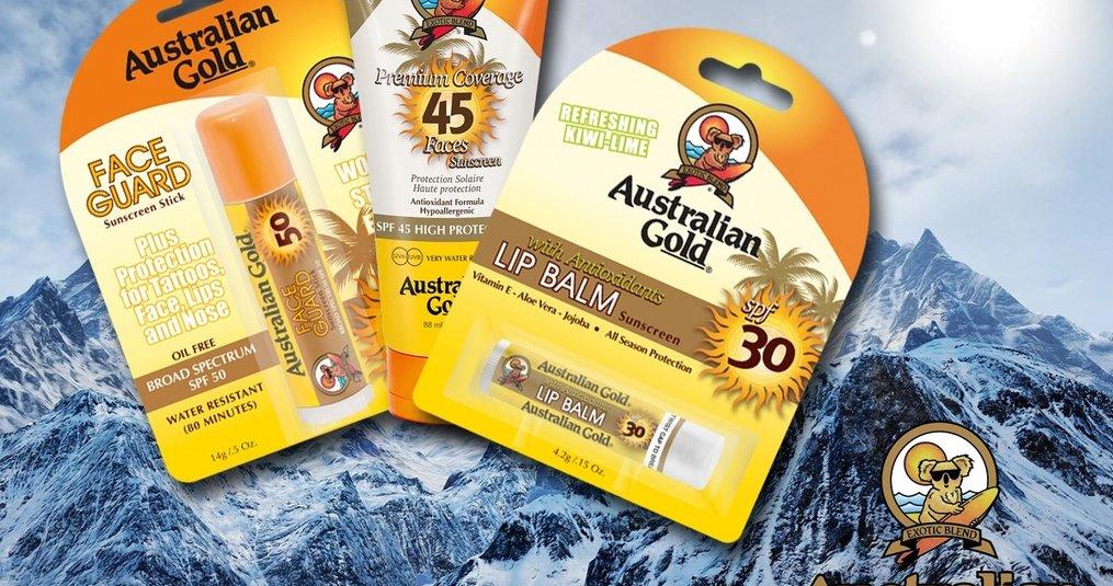 Schützt die Haut beim Wintersport mit Australian Gold!