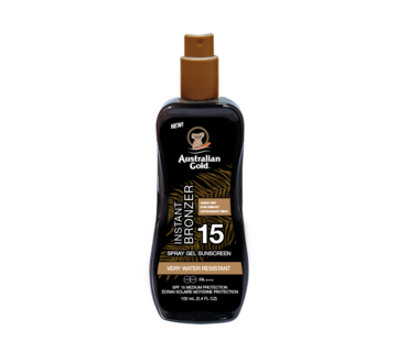 Australian Gold LSF 15 Spray Gel mit Bronzer 100ml - Reiseverpackung
