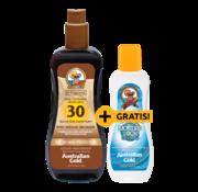 Australian Gold LSF 30 Spray Gel Bronzer + GRATIS! Moisture Lock Aftersun 125ml im Wert von 8,95 €
