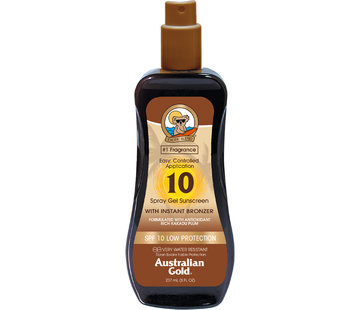 Australian Gold SPF 10 Spray Gel met bronzer