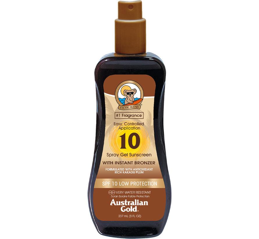 SPF 10 Spray Gel met bronzer - zonnebrandcrème