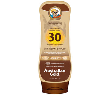 Australian Gold SPF 30 Lotion met bronzer