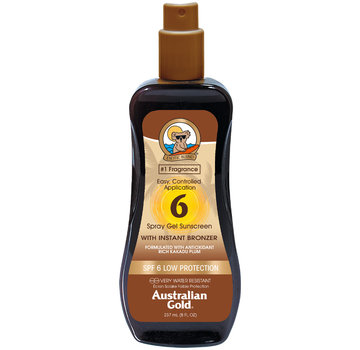Australian Gold SPF 6 Spray Gel met bronzer