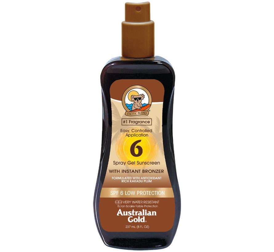 SPF 6 Spray Gel met bronzer - zonnebrandcrème