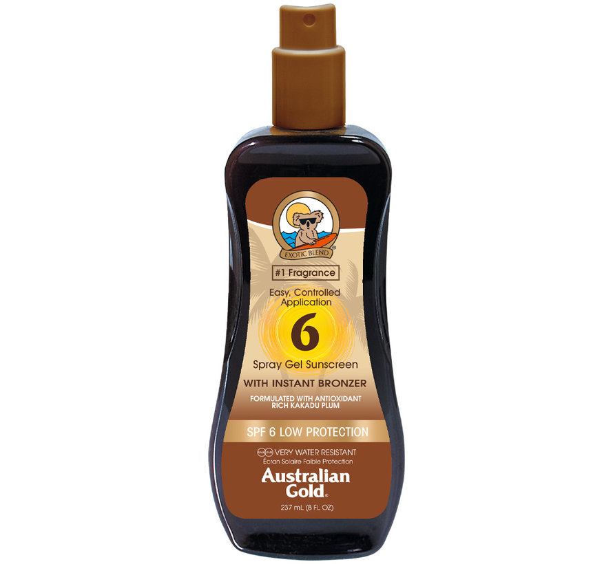 SPF 6 Spray Gel with Bronzer - sunscreen