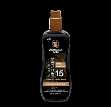 Australian Gold SPF 15 Spray Gel + Bronzer 100 ml - Reisverpakking
