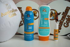 Australian Gold Continuous Active Chill Spray, Kids Lotion Sensitive Protection & Face Guard Stick