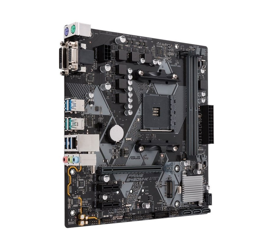 MB  B450M-K / AM4 / DVI / VGA / 2 X DDR4 / mATX