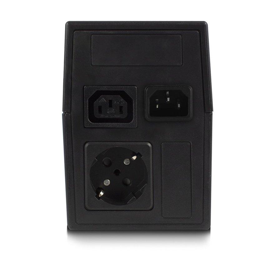 UPS 800VA Line Interactive with AVR, 1 x CEE7/3 port &