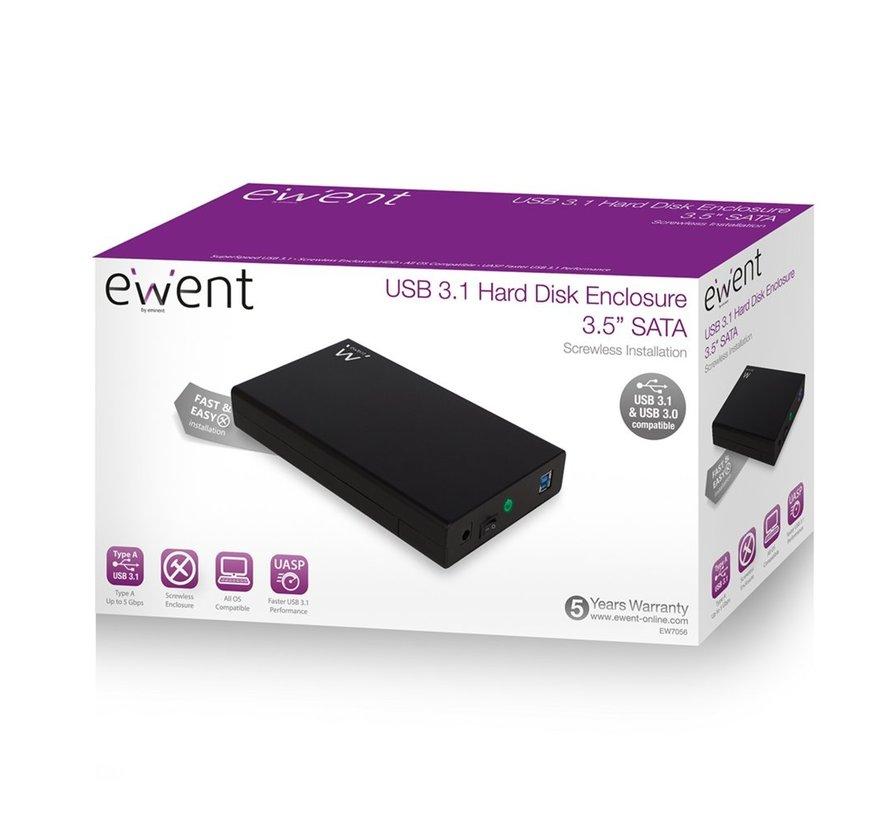 USB3.1 / USB3.0 / 3.5inch SATA HD Enclosure Screwless