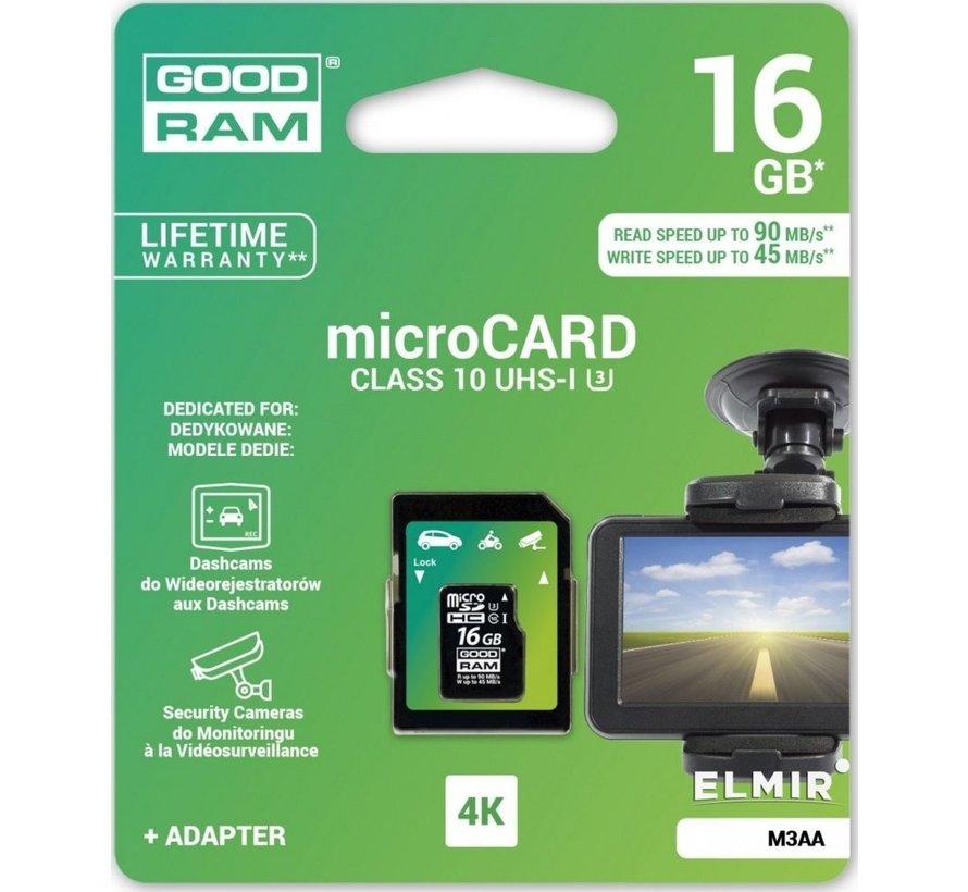 16GB Micro SD + adapt /4K Class 10