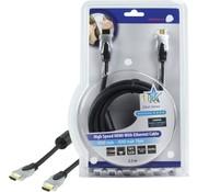 OEM HQ 2.5m HDMI Ethernet HDMI kabel 2,5 m HDMI Type A (Standaard) Zwart