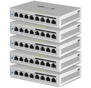 Ubiquiti Unifi Switch (8-poorts, 60W PoE+) 5-Pack