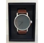 OEM Enzo Tempo Milano heren horloge grijs/bruin