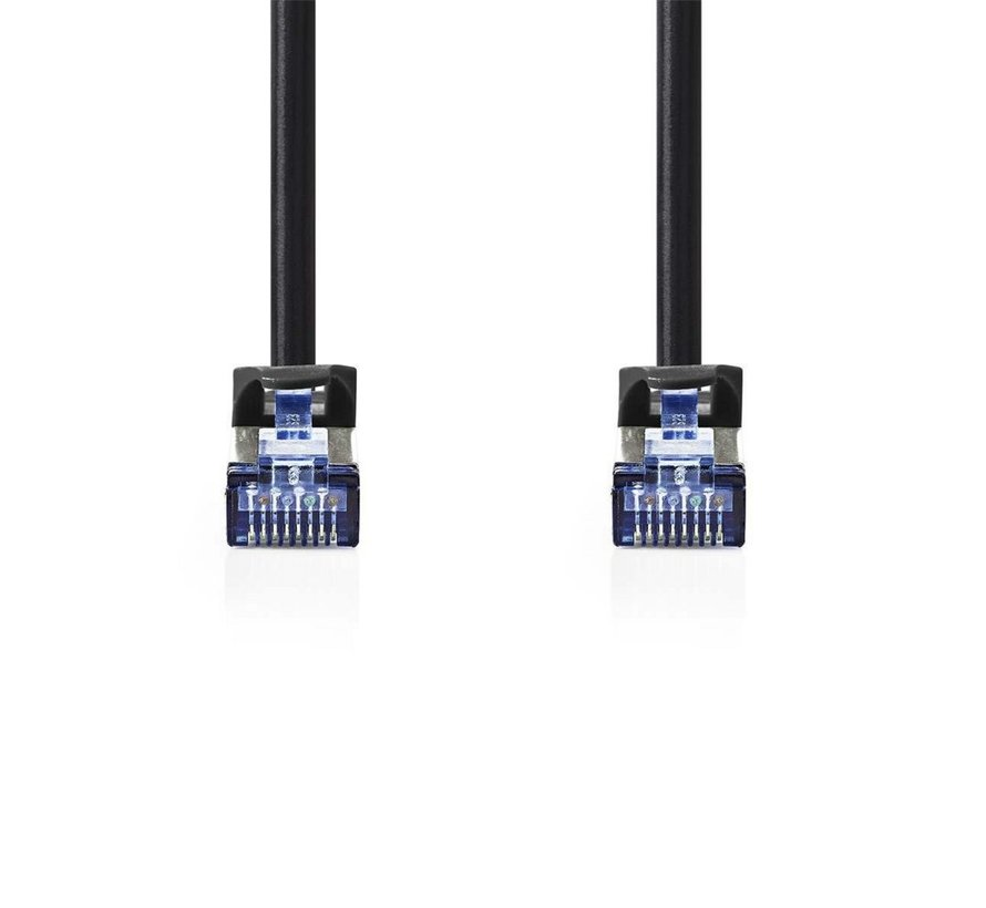 CAT6a SF/UTP-netwerkkabel/RJ45 3m Zwart