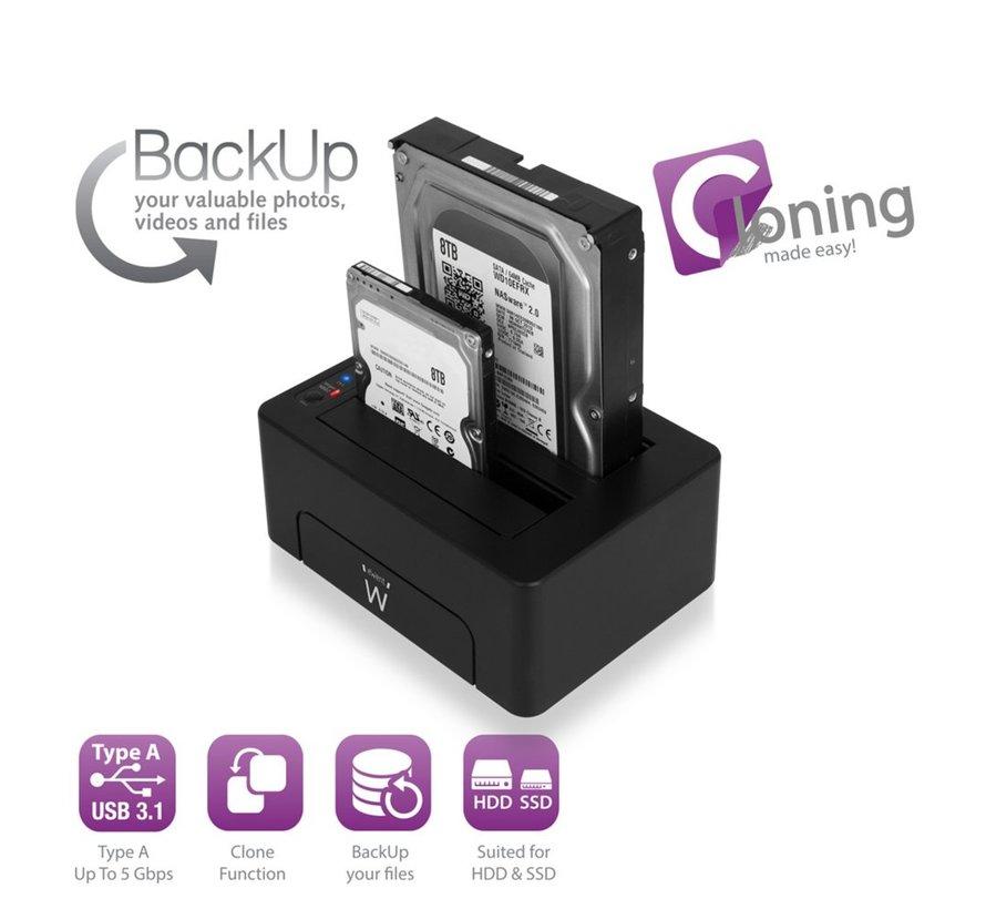 USB 3.1 Gen1 (USB 3.0) Dual HDD Docking Station