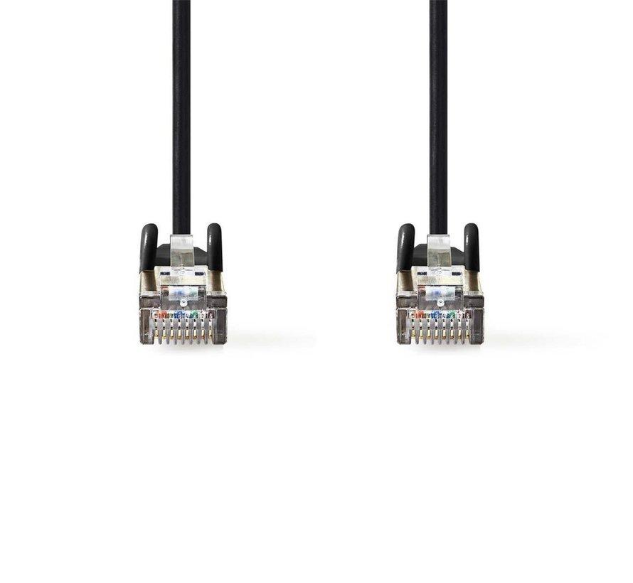 CAT5e SF/UTP-Netwerkkabel/RJ45 5m Zwart