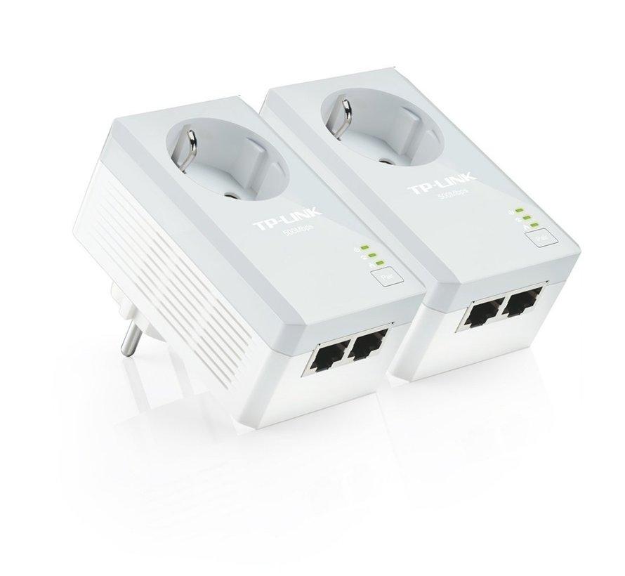 AV500 2x Powerline adapter + stopcontact