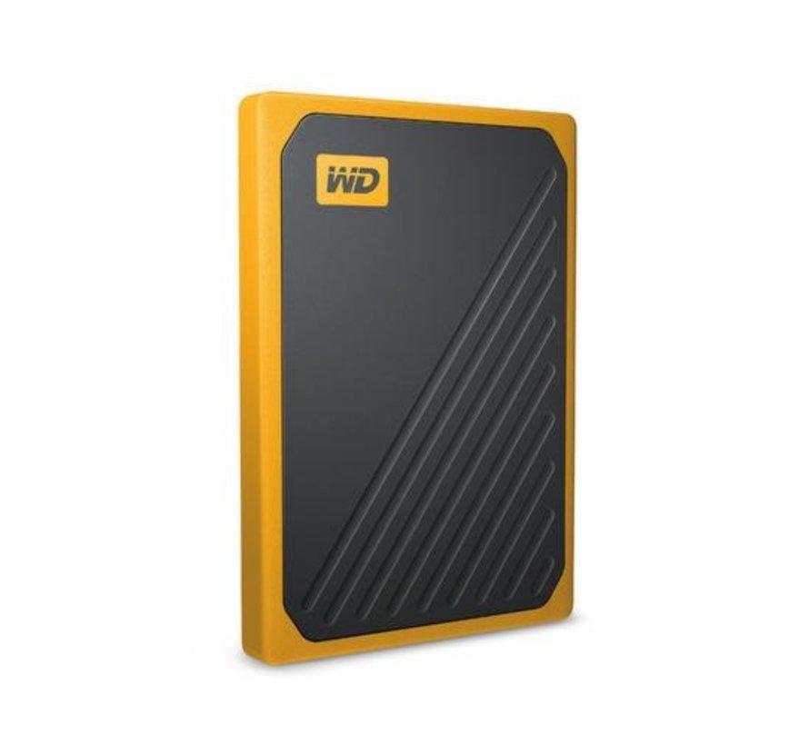 HDD Ext  My Passport Go 500 GB Zwart, Geel