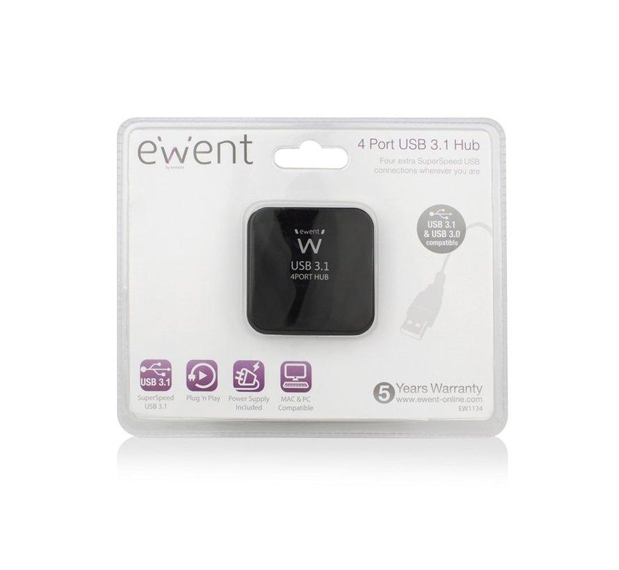 USB 3.1 Gen 1 (USB 3.0) Hub 4 port with Power adapter