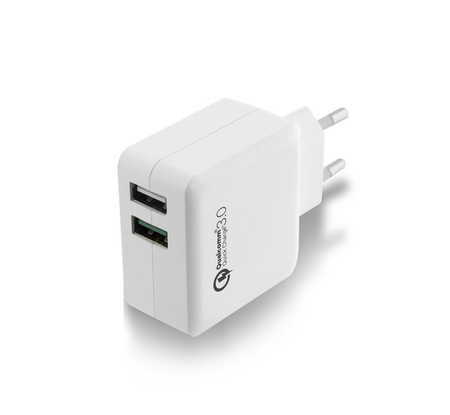 USB Charger 110-240V 2 port  & Quickcharge Qualcomm 4A