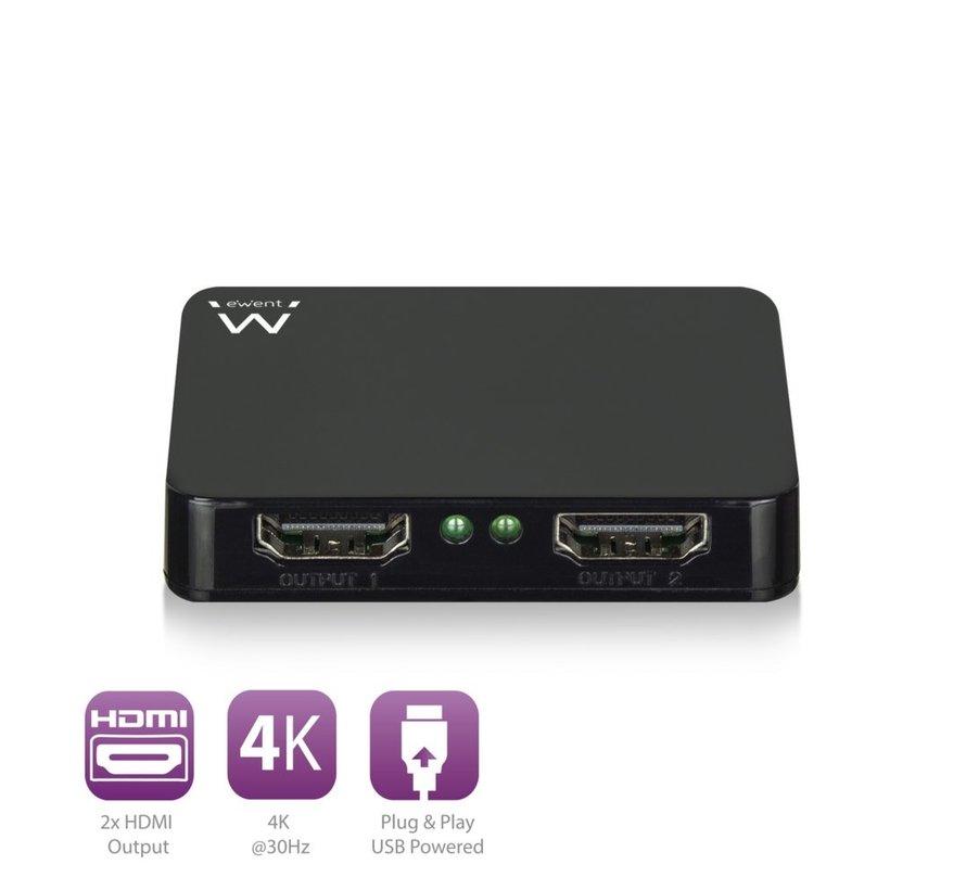 4K @30Hz active HDMI Splitter 1 to 2, USB powered
