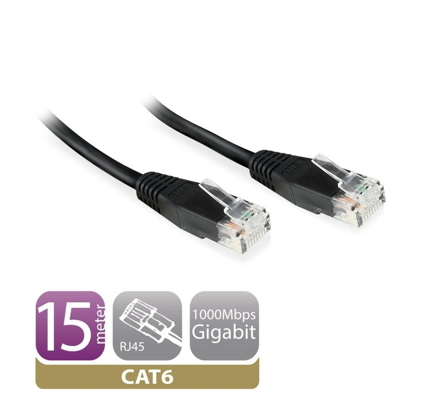 CAT6 Networking Cable copper 5 Meter Black