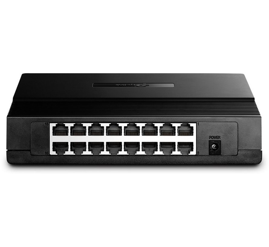 TP-LINK TL-SF1016DS netwerk-switch Fast Ethernet (10/100) Zw