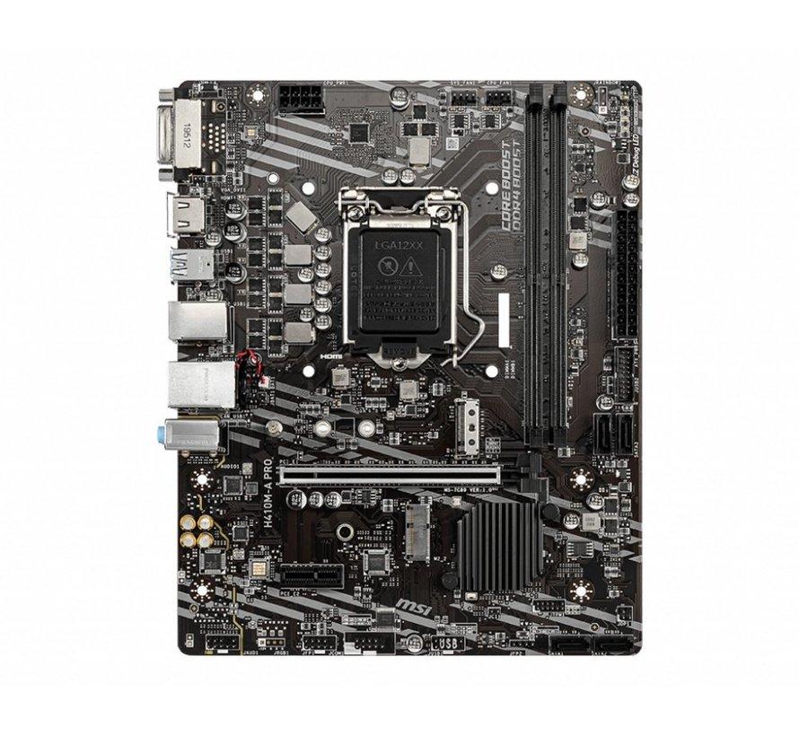 MB  H410M-A Pro / 2 x DDR4 / PCI-E / LGA1200 / mATX